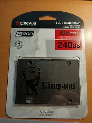 New In Package KIngston A400 Internal SSD Solid State Hard Drive 240gb  • 28£