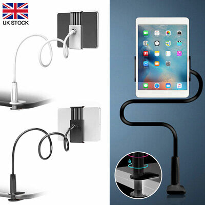 80cm Flexible Arm 360º Bed Desk Gooseneck Lazy Stand Phone Pad Holder Mount Rack • 7.99£