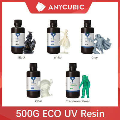 ANYCUBIC Plant-based 500g Resin For LCD / DLP 3D Printer Eco-friendly DIY UK  • 17.99£