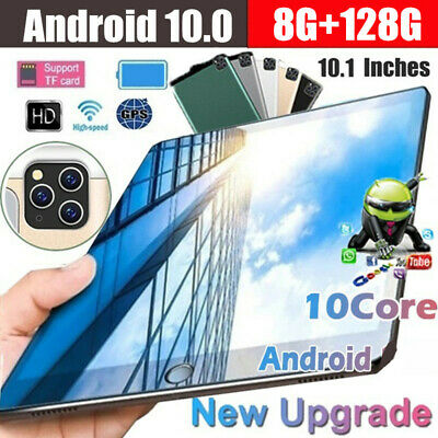 10  Inch Android 10.0 Tablet PC 128GB Octa Core Dual SIM Camera GPS Phablet • 99.99£