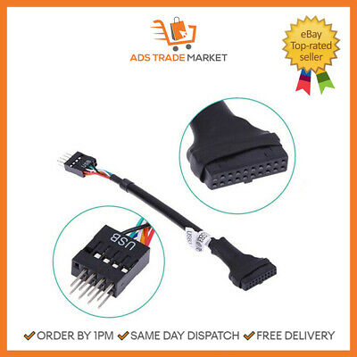 NEW USB 3.0 20-Pin Female To USB 2.0 9-Pin Male Adapter • 5.95£