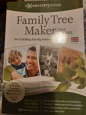 Ancestry Family Tree Maker Deluxe Edition 2012 UK (new And Sealed) Windows PC • 24.99£