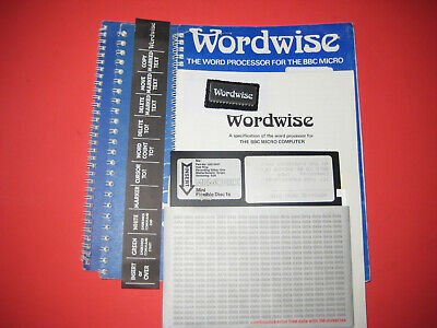 WORDWISE ROM For BBC Microcomputer + Documentation + Menu Disc • 10£