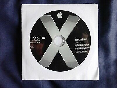 MAC OS X Tiger 10.4  CPU Drop In DVD In Paper Cover Includes Xcode 2 • 5.50£