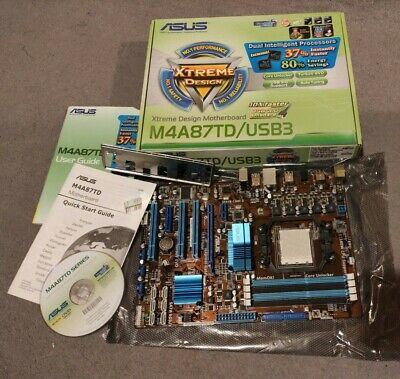 ASUS M4A87TD/USB3 Socket AM3 ATX MotherBoard MB Boxed PC • 0.99£