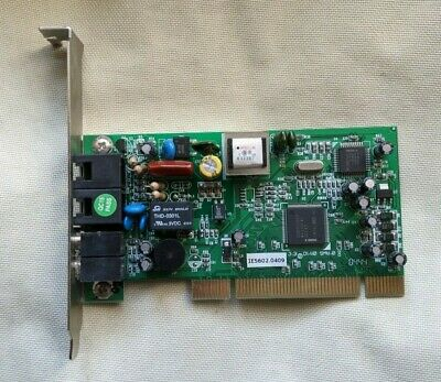 PC PCI Modem Card With Phone And Network Interface. • 1£