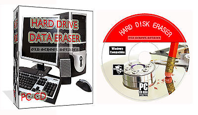 Erase Wipe Format Delete Destroy Clean Hard Drive Data PC CD Disk Eraser Cleaner • 2.99£
