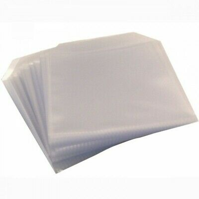 50 High Quality 150 Micron Clear Plastic  SUPER THICK CD DVD Sleeves Side STITCH • 3.79£