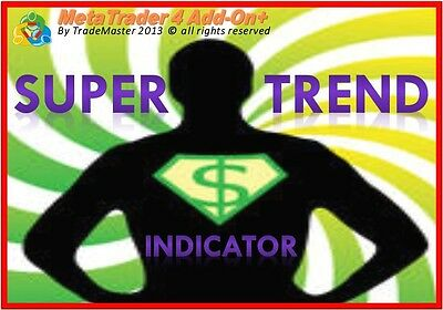 **SuperTrend** Powerful Advanced Meta Trader MT4 Indicator, Forex Trading System • 74.93£