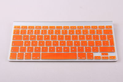 Orange UK/EU Silicone Keyboard Cover Protector For Apple IMac, Macbook Pro • 3.99£