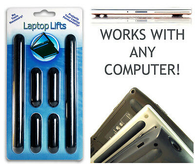 LAPTOP LIFTS - Universal Replacement Rubber Feet Notebook Cooler And Protection! • 12.67£