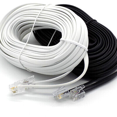 RJ11 To RJ11 ADSL Modem Router Cable Fast Sky Broadband BT Telephone Phone Lead • 3.95£