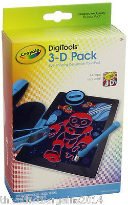 Crayola DigiTools 3D Pack For Apple IPad 3D App Included RRP £24.99 • 7.25£