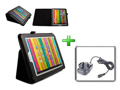 Black Custom Case For Archos 97B Titanium Tab + Micro USB UK Mains Charger Plug • 18.99£