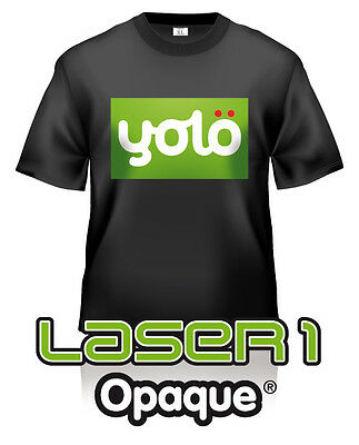 3x A4 Laser 1 Opaque® Photo-Quality Laser Heat Transfer Paper For Dark Fabrics • 2.84£