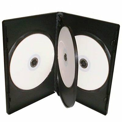 1 X 4-WAY NEW BLACK DVD CD DISC CASE 14mm SPINE REPLACEMENT SLEEVE NEW  • 1.99£