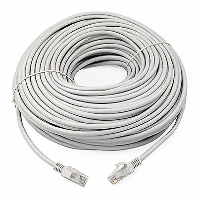 15m White External Outdoor Network Ethernet Cable Cat5e LAN PC Router Modem RJ45 • 4.95£