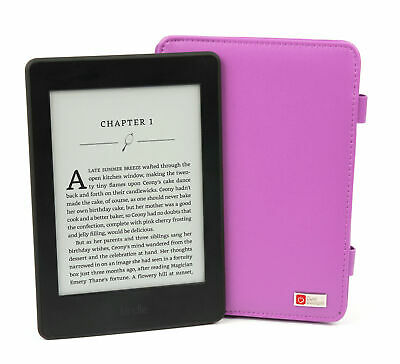 Custom Fitted Purple Book Cover For Amazon Kindle Paperwhite & EU Mains Adapter • 14.99£