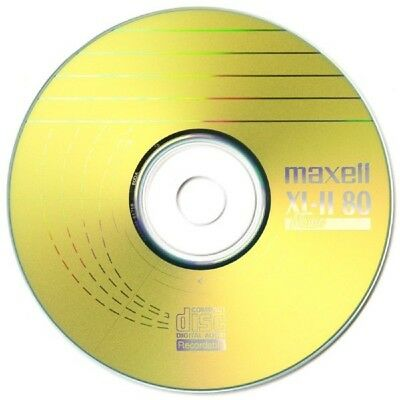 Maxell CD-R 80 Mins XL-II Digital Audio Recordable Blank Discs - 10 Pack Sleeved • 3.50£