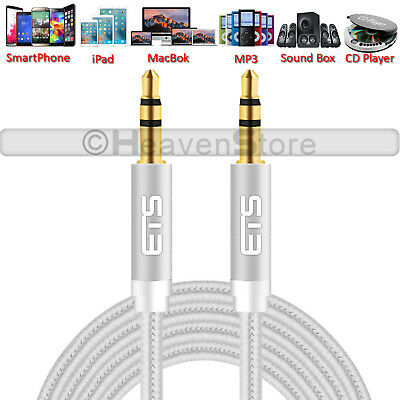 3.5mm ETS Brand AUX Male To Male Stereo Jack Headphone Speaker Lead Cable UK NEW • 1.99£