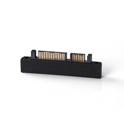 22 Pin Right Angle UP 90 SATA Adapter Male To Female 7+15 Pin Serial ATA Extend • 3.80£