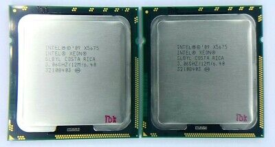 Matched Pair Of Intel Xeon X5675 3.06GHz Six Core SLBYL Processor W/Grease • 25.60£