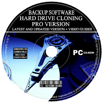 Hard Drive Disk Backup Clone Copy Make Image Cloning Restore Software PC MAC CD • 3.49£
