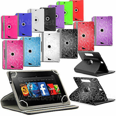 New 360 Leather Case Cover Stand For Amazon Kindle Fire 7, Fire Hd 8, Fire Hd 10 • 5.99£