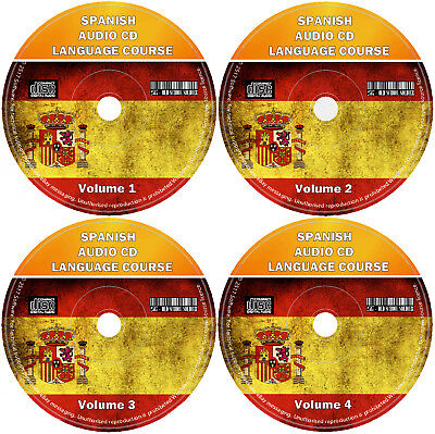 Spanish Language Course For Beginners Easy Learn By Listening 4 X Audio CD Set • 3.99£