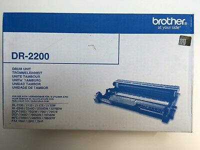 BROTHER Genuine DR-2200 Black Drum Unit - Brand New.   • 43.50£
