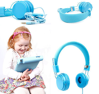 Premium Kids / Child Headphones & Shell Case For Use W/ Apple IPad 3 & 4 In Blue • 16.99£