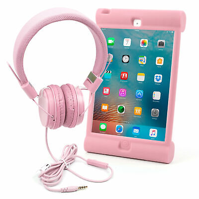 Premium Children's Headphones And Shell Case For Use W/ Apple IPad Mini In Pink • 16.99£
