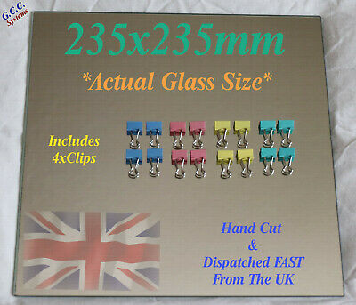 235 X 235mm Mirror Glass Plate For Heated 3D Printer Bed W Clips Ender 3 CR-20 • 19.49£