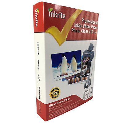 Inkrite Photo Plus Professional Paper Photo Gloss 210gsm 6x4 (100 Sheets) • 5.95£
