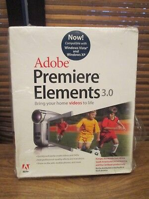 Adobe Premier Elements 3.0 Brings Home Videos To LIfe (NEW) • 19.99£