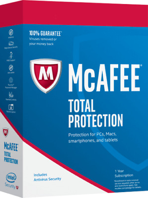 McAfee Total Protection 2020 One Device New And Renew 1 Year • 6.75£