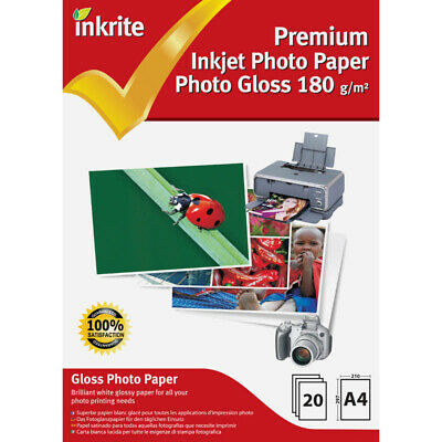 Inkrite Photo Plus Professional Paper Photo Gloss 180 Gsm A4 (20 Sheets)  • 4.20£