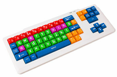 Colourful USB Children / Special Needs / Home School / Keyboard For PC & Laptops • 19.99£