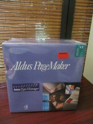 Aldus PageMaker Adobe Type Manager English Version 4.0 (BRAND NEW) • 124.99£