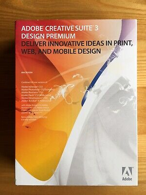 Adobe Creative Suite 3 Design Premium Upgrade For Mac - With Serial Numbers • 7.50£