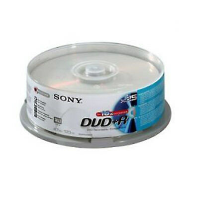 25 Sony DVD+R 4.7GB(16x) 120Min DVD Recordable Disc Spindle • 11.99£