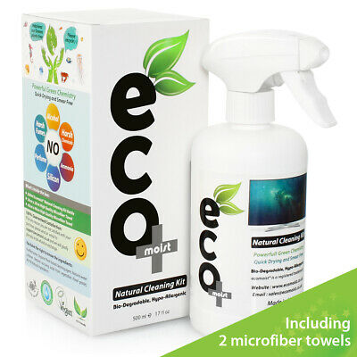 Ecomoist Natural Screen Cleaner 500ml With Fine Microfiber Towel • 12.95£