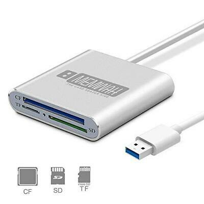 USB 3.0 Multi Card Reader Adapter For Micro SD / SD / SDXC / SDHC / CF - PC Mac • 9.95£