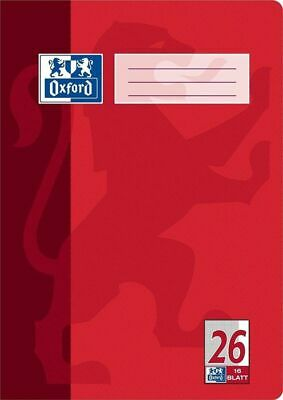 Pack 15 X HE Oxford School Red A4 Notepad 100050312 16 Sheets Squared Style 26 • 19.50£