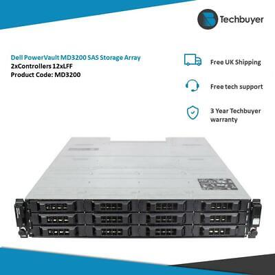 DELL POWERVAULT MD3200 STORAGE ARRAY 2 X SAS CONTROLLERS 12 X LFF - N98MP • 380£