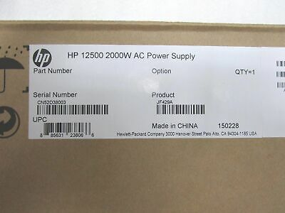 New Boxed Genuine Hp 12500 2000w Ac Power Supply Jf429a (inc Vat) • 89£