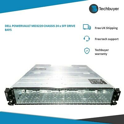 DELL POWERVAULT MD3220 CHASSIS 24 X SFF DRIVE BAYS • 240£
