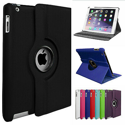 Leather 360 Rotating Smart Case Cover Apple IPad Air 2 Pro 10.5 Air 10.5 Mini 5 • 6.99£