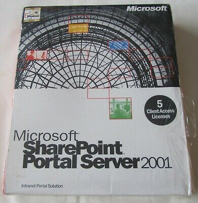 *NEW/SEALED* Microsoft SharePoint Portal Server 2001, 5 Clients, H04-00001 • 14.99£