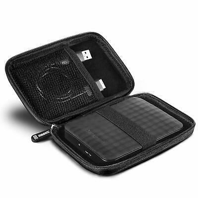 Black Portable External Hard Drive Carry Case Protective HDD SSD For 2.5 , 3.5  • 5.99£
